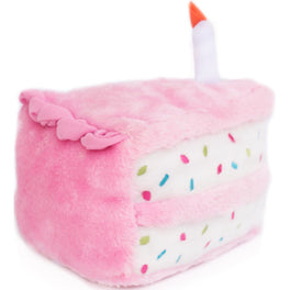ZippyPaws NomNomz Birthday Cake Pink Dog Toy