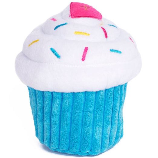 ZippyPaws NomNomz Cupcake Blue Dog Toy - Kohepets