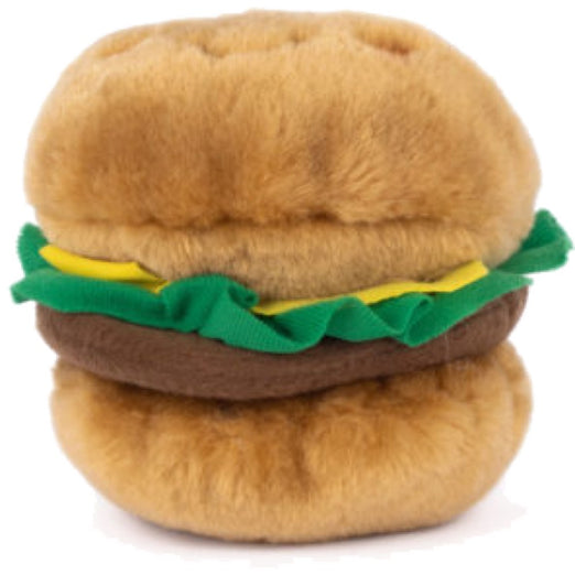 ZippyPaws NomNomz Hamburger Plush Dog Toy