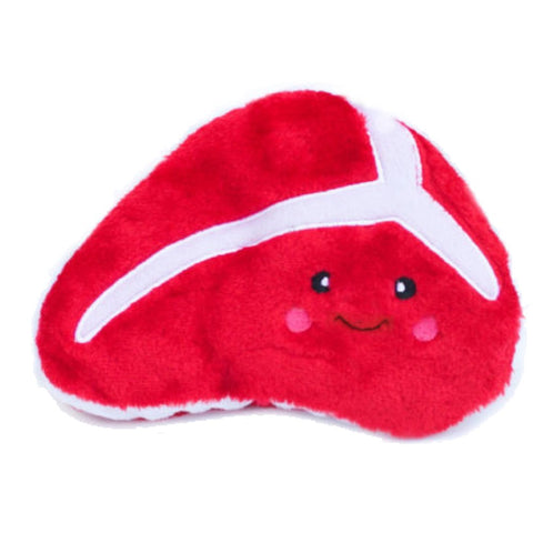 ZippyPaws NomNomz Steak Plush Dog Toy - Kohepets