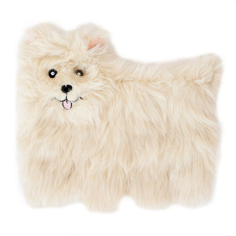 ZippyPaws Squeakie Pup Pomeranian Dog Toy