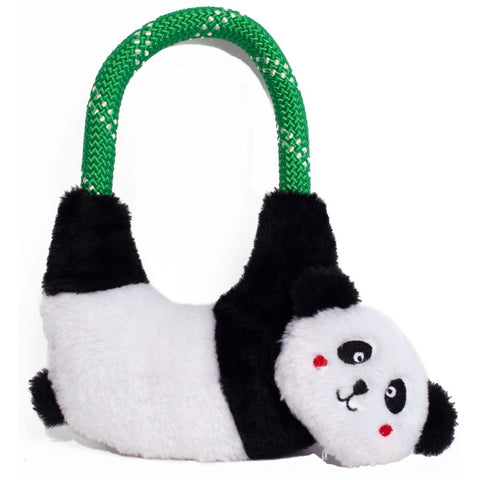 ZippyPaws Ropehangerz Panda Plush Dog Toy - Kohepets