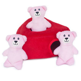 ZippyPaws Valentine's Burrow Heart N' Bears Dog Toy