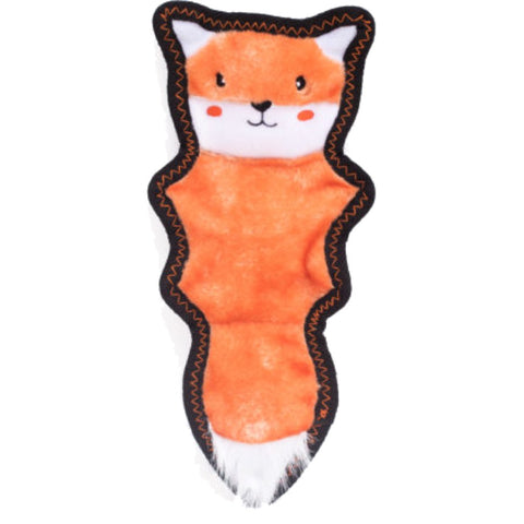 ZippyPaws Z-Stitch Skinny Peltz Fox Dog Toy - Kohepets