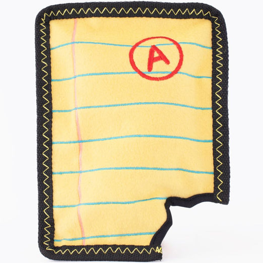 ZippyPaws Z-Stitch Yellow Notepad Dog Toy