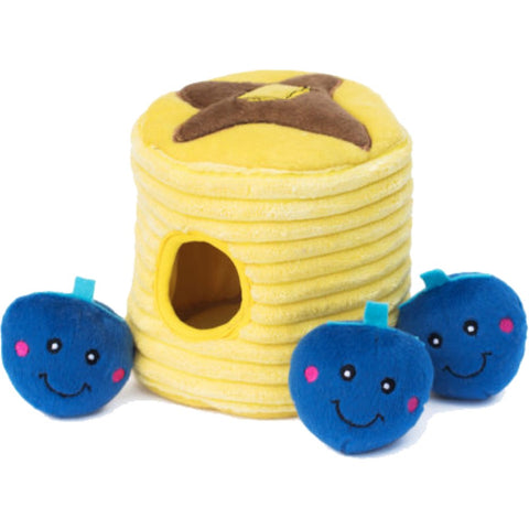 ZippyPaws Zippy Burrow Blueberry Pancakes Plush Dog Toy