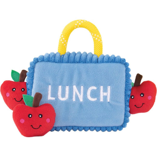 ZippyPaws Zippy Burrow Lunchbox With Apples Dog Toy
