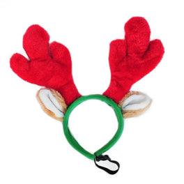 ZippyPaws Holiday Antler Headband