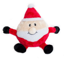 ZippyPaws Holiday Brainey Santa Dog Toy