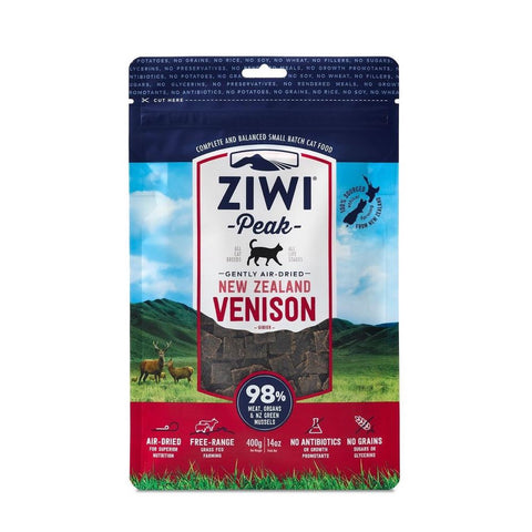 2 FOR $103.40: ZiwiPeak Air-Dried Venison Cat Food 400g - Kohepets