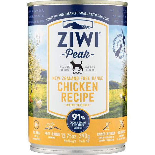 ZiwiPeak New Zealand Free Range Chicken Canned Dog Food 390g