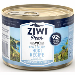'BUY 3 GET 1 FREE': ZiwiPeak New Zealand Hoki Grain-Free Canned Cat Food 185g