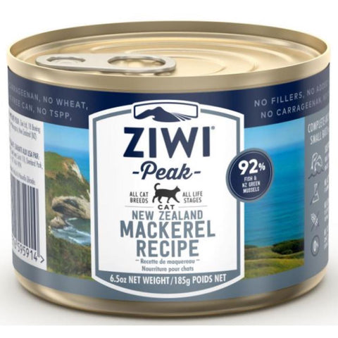 ZiwiPeak New Zealand Mackerel Grain-Free Canned Cat Food 185g