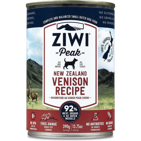 ZiwiPeak New Zealand Venison Grain-Free Canned Dog Food 390g