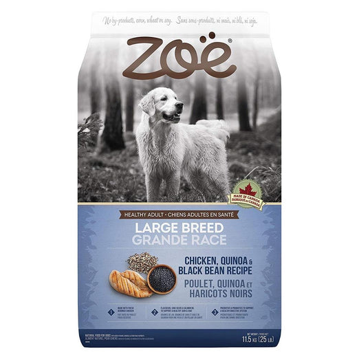 25% OFF: Zoe Chicken, Quinoa & Black Bean Recipe Large Breed Dry Dog Food 11.5kg - Kohepets
