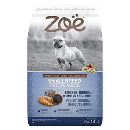 25% OFF: Zoe Chicken, Quinoa & Black Bean Recipe Small Breed Dry Dog Food 2kg