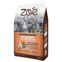 25% OFF: Zoe Turkey, Chickpea & Sweet Potato Recipe Medium Breed Dry Dog Food 5kg