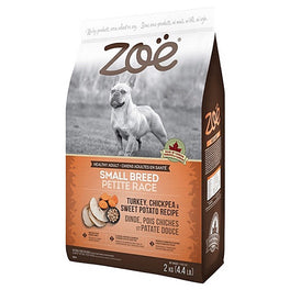 25% OFF: Zoe Turkey, Chickpea & Sweet Potato Recipe Small Breed Dry Dog Food 2kg