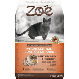 25% OFF: Zoe Weight Control Turkey With Barley & Quinoa Recipe Dry Cat Food