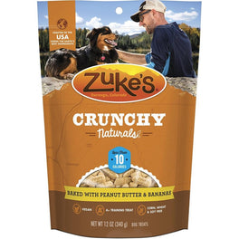 Zuke's Crunchy Naturals 10s Peanut Butter & Bananas Dog Treats 12oz
