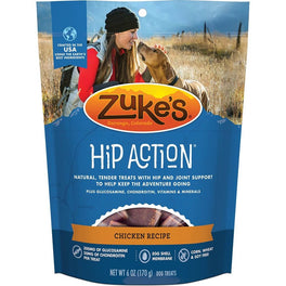 10% OFF: Zuke's Hip Action Dog Treats With Glucosamine & Chondroitin Chicken Recipe 6oz (Exp 18 Jul 19)