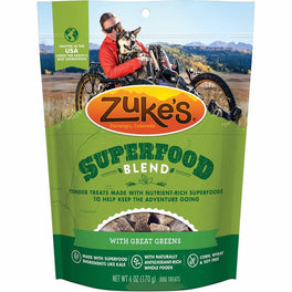 Zuke's SuperFood Blend With Great Greens Dog Treats 6oz