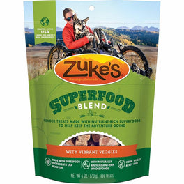 Zuke's SuperFood Blend With Vibrant Veggies Dog Treats 6oz