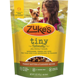 Zuke's Tiny Naturals Peanut Butter & Flaxseed Recipe Dog Treats 5oz