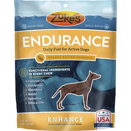 Zuke's Enhance Functional Endurance Peanut Butter Dog Treats 5oz