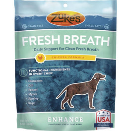 Zuke's Enhance Functional Fresh Breath Chicken Dog Treats 5oz
