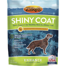 Zuke's Enhance Functional Shiny Coat Peanut Butter Dog Treats 5oz
