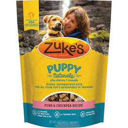 Zuke's Puppy Naturals Pork & Chickpea Grain-Free Dog Treats 5oz