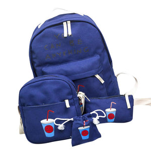 Girls and Boys Backpack 1Set 3pcs