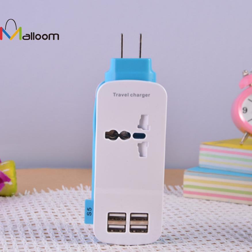 Mini Size 4.2A USB 4 Port  Travel Charger Adapter