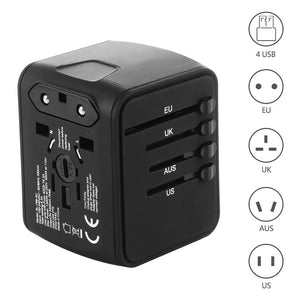 FORNORM 4 USB EU AUS US UK 4 in 1 Travel Fast Charger Adapter