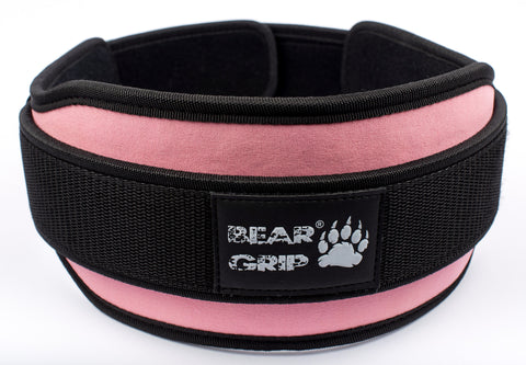 BEAR GRIP - Pink Weight Lifting Neoprene Double Belt