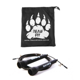 Bear Grip - Best Skipping Speed Jump Rope, Adjustable 10ft Cable, ( STEEL BALL-BEARING mechanism) For Cardio, Boxing, MMA, Crossfit with FREE GYM GEAR BAG - MONEY BACK GUARANTEE.