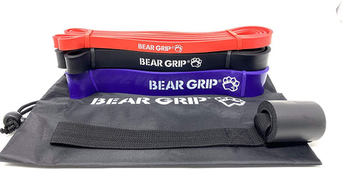 BEAR GRIP - Pull Up Assist Bands Heavy Duty Resistance Bands