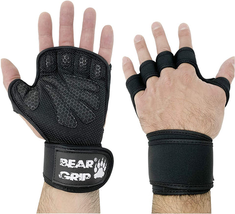 BEAR GRIP - Open Workout Gloves with extra Palm Protection