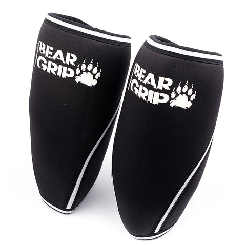 BEAR GRIP - Premium 7mm Compression & support knee Sleeves (Pair) For High Performing Athletes Keep Fit Without Damaging Your Knee (xS)