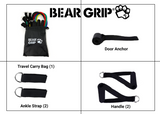 BEAR GRIP - 11 Pcs Resistance Bands Set, Home Workout Kit, Exercise Bands with Handles, Door Anchor and Free bag