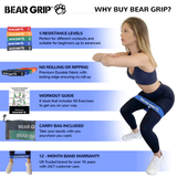 Bear Grip Mini Fabric Hip Band Circle - Glute Activation Band