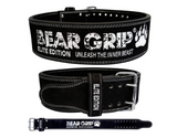 BEAR GRIP Power Belt - Elite Edition Premium Double Pong Weight Lifting Belt