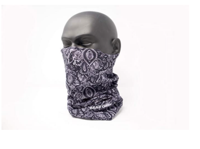 BEAR GRIP - Cycling Running Hiking Outdoor Face Mask Neck Scarf Headwear with 7 Filters Breathable and Dust Proof