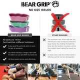 Bear Grip Hip Band Circle - SET OF 3 Glute Activation Band Heavy Elasticated Cotton in Two Sizes Ideal for Warm ups …