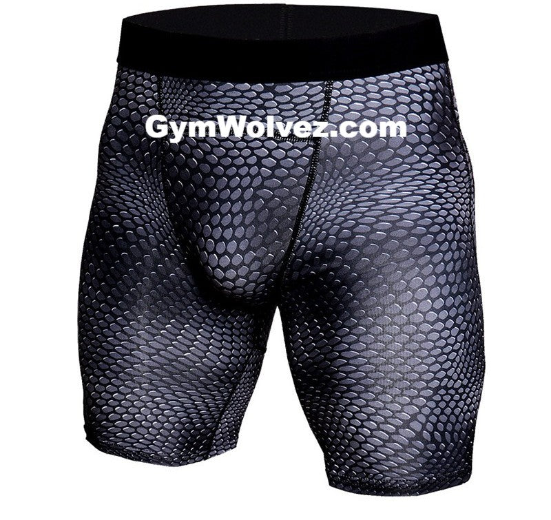 """Meshed / Netted"" Men's Compression Shorts"