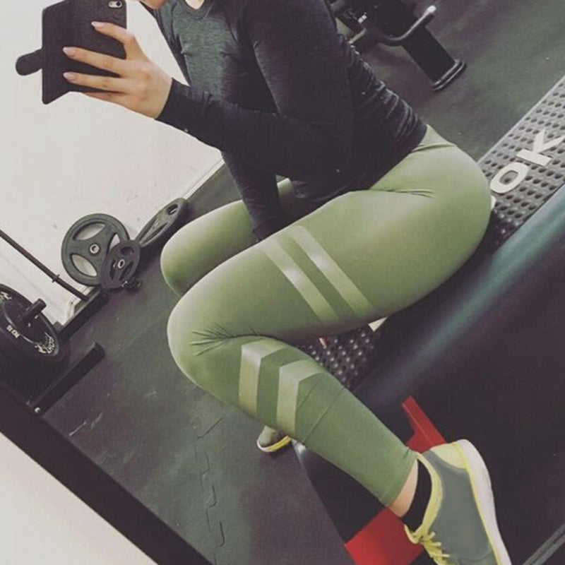 Women's Solid Mesh Yoga Pants