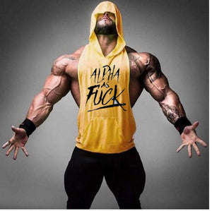 Alpha as F**k Men's Sleeveless Hoodie