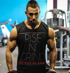 """RISE AND GRIND"" Tank Top"