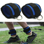 1 Pair Body Building Resistance Band D-ring Ankle Straps